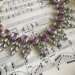 Unicorn Purple Statement Necklace Earring Set